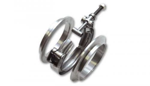 Vibrant T304 Stainless Steel V-Band Flange Assembly