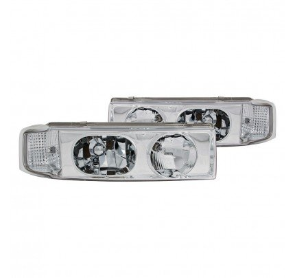 Anzo Euro Style Headlights - Chrome - 111001