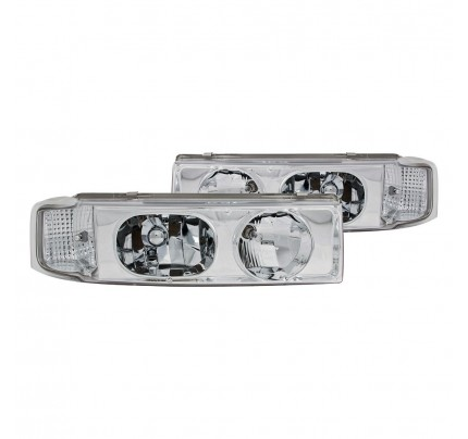 Anzo Euro Style Headlights - Chrome - 111001