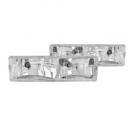 Anzo Euro Style Headlights - Chrome - 111004