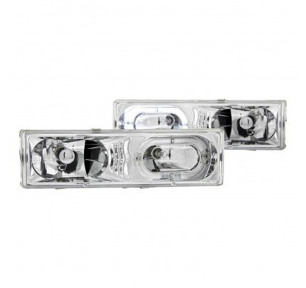 Anzo Euro Style Headlights - Chrome Halo LED - 111006