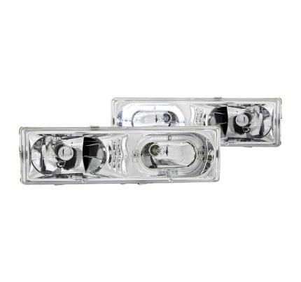 Anzo Euro Style Headlights - Chrome Halo LED - 111006