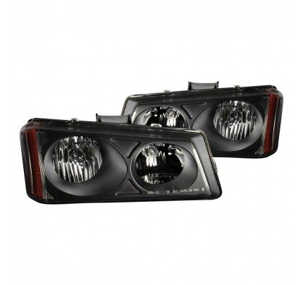 Anzo Euro Style Headlights - Black - 111009