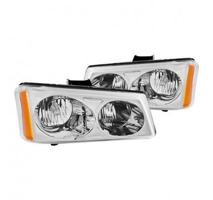 Anzo Euro Style Headlights - Chrome - 111010