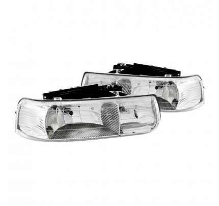 Anzo Euro Style Headlights - Chrome - 111011
