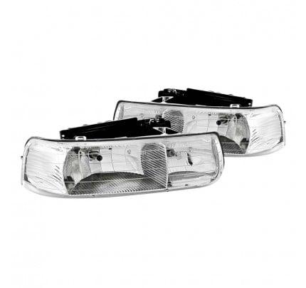 Anzo Euro Style Headlights - Chrome - 111011