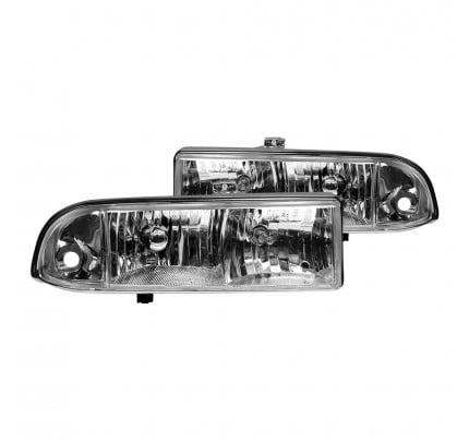 Anzo Euro Style Headlights - Chrome - 111014