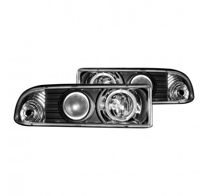 Anzo LED Headlights - Black Halo Projector - 111015