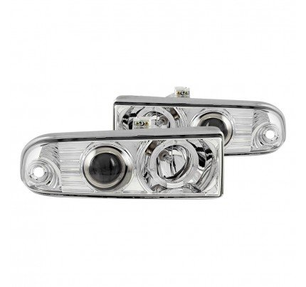 Anzo LED Headlights - Chrome Halo Projector - 111016