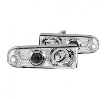 Anzo LED Headlights - Chrome Halo Projector - 111016