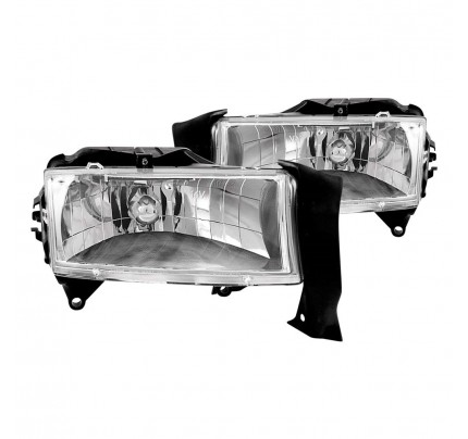 Anzo Euro Style Headlights - Chrome - 111021