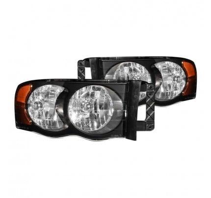 Anzo Euro Style Headlights - Black - 111022
