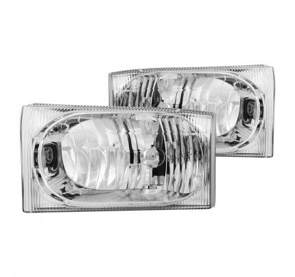 Anzo Euro Style Headlights - Chrome - 111023