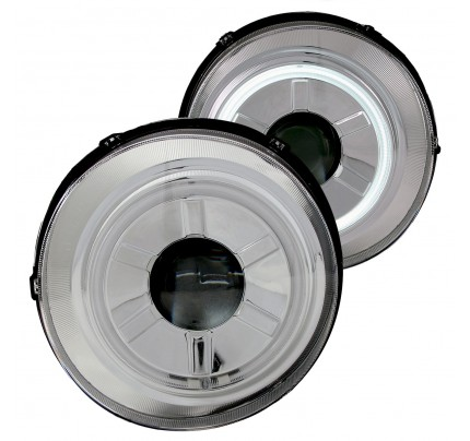 Anzo LED Headlights - Chrome CCFL Halo Projector - 111115