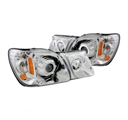Anzo LED Headlights - Chrome CCFL Halo Projector - 111169