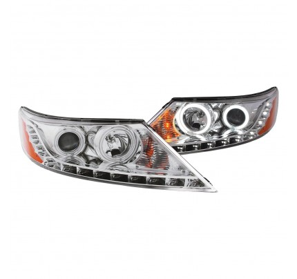Anzo LED Headlights - Chrome CCFL Halo Projector - 111249