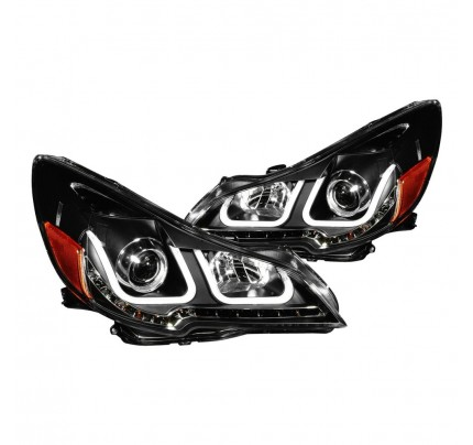 Anzo LED Headlights - Black U-Bar Projector - 111285