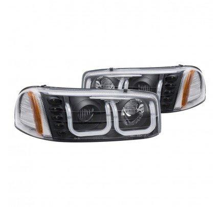 Anzo LED Headlights - Black U-Bar Projector - 111303