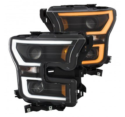 Anzo LED Headlights - Black Switchback U-Bar Projector - 111357