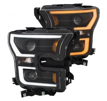 Anzo LED Headlights - Black Switchback U-Bar Projector - 111357