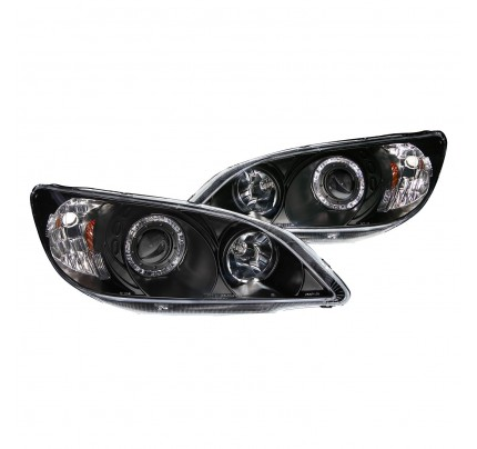 Anzo LED Headlights - Black Halo Projector - 121059