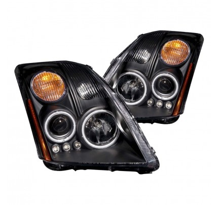 Anzo LED Headlights - Black CCFL Halo Projector - 121276