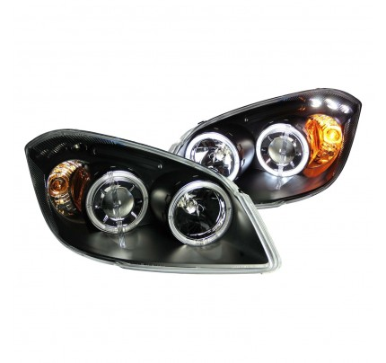 Anzo LED Headlights - Black CCFL Halo Projector - 121344
