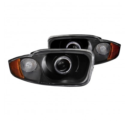 Anzo LED Headlights - Black Halo Projector - 121437