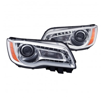 Anzo LED Headlights - Chrome DRL Bar Projector - 121494