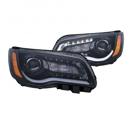 Anzo LED Headlights - Black DRL Bar Projector - 121495