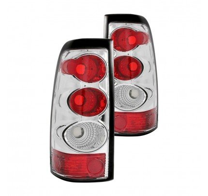 Anzo Tail Lights - Chrome/Red Euro Style - 211020