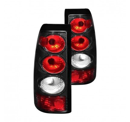 Anzo Tail Lights - Carbon Fiber/Red Euro Style - 211021