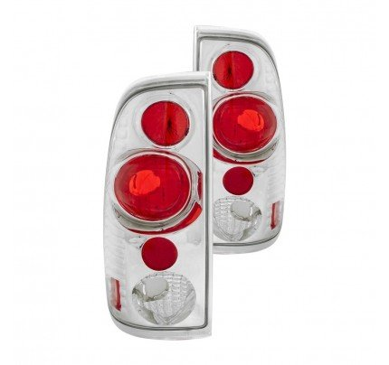 Anzo Tail Lights - Chrome/Red Euro Style - 211063