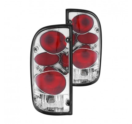 Anzo Tail Lights - Chrome/Red Euro Style - 211127