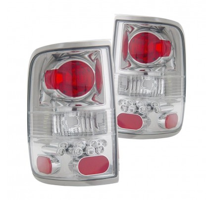 Anzo Tail Lights - Chrome/Red LED - 211138