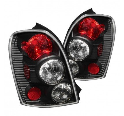 Anzo Tail Lights - Black/Red Euro Style - 221095