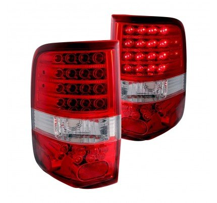 Anzo Tail Lights - Chrome/Red LED - 311022