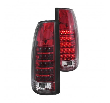 Anzo Tail Lights - Chrome/Red LED - 311079