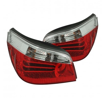 Anzo Tail Lights - Chrome/Red LED - 321006