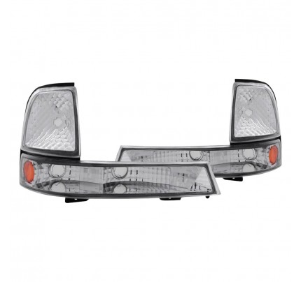 Anzo Euro Style Turn Signal / Parking Lights - Chrome - 511003
