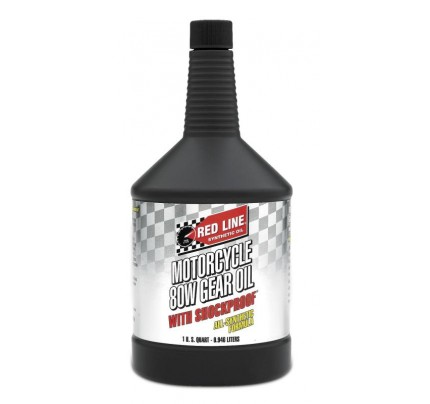 Red Line Oils 80W Motorcycle Gear Oil w/ Shockproof